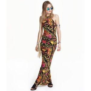 *☆H&M Coachella Bright Print Maxi Bodycon Dress*